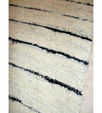 Bolyhos rongyszőnyeg nyers, fekete 85 x 280 cm