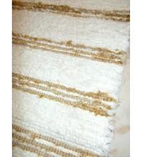 Bolyhos rongyszőnyeg nyers, barna 75 x 135 cm