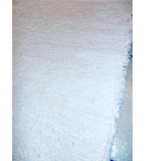 Bolyhos rongyszőnyeg fehér 90 x 190 cm