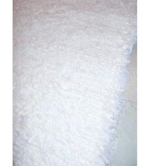 Bolyhos rongyszőnyeg fehér 95 x 150 cm