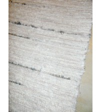 Bolyhos rongyszőnyeg nyers, szürke 90 x 115 cm