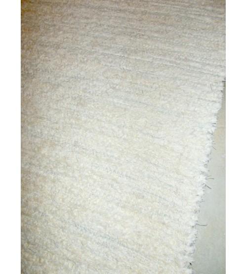 Bolyhos rongyszőnyeg nyers, szürke 75 x 150 cm