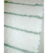 Bolyhos rongyszőnyeg fehér, zöld 85 x 115 cm