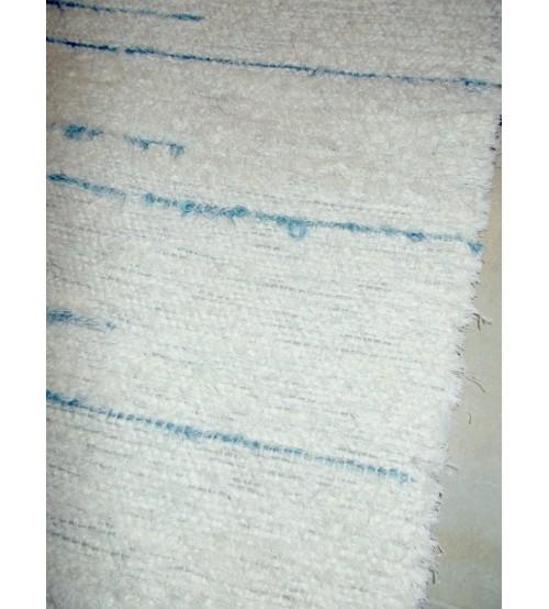 Bolyhos rongyszőnyeg nyers, kék 90 x 160 cm