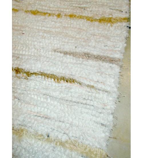 Bolyhos rongyszőnyeg fehér, barna 75 x 100 cm