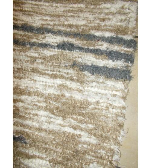 Bolyhos rongyszőnyeg barna, szürke, nyers 75 x 150 cm