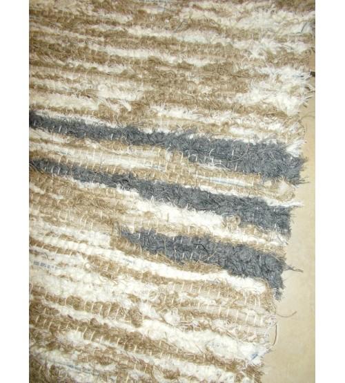 Bolyhos rongyszőnyeg barna, szürke, nyers 75 x 200 cm