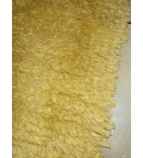 Bolyhos rongyszőnyeg sárga 70 x 90 cm