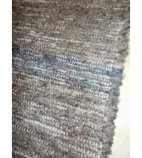 Bolyhos rongyszőnyeg barna, kék 85 x 190 cm