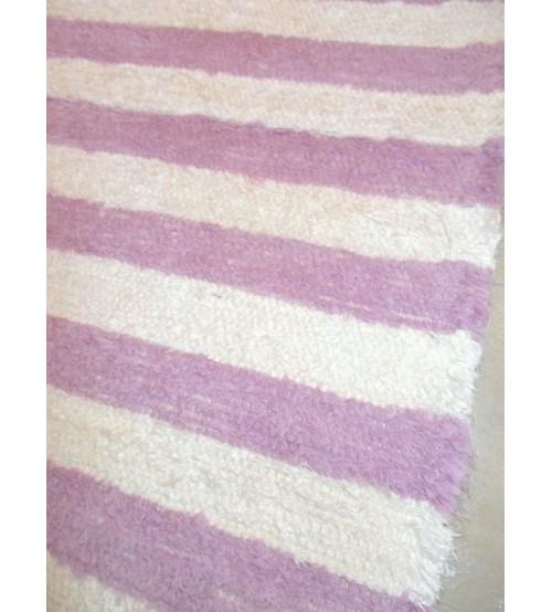 Bolyhos rongyszőnyeg nyers, rózsaszín 75 x 75 cm
