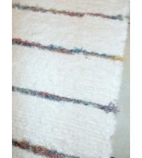 Bolyhos rongyszőnyeg fehér, kék, piros 65 x 175 cm