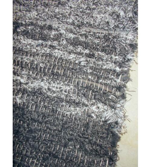 Bolyhos rongyszőnyeg szürke, nyers 75 x 100 cm