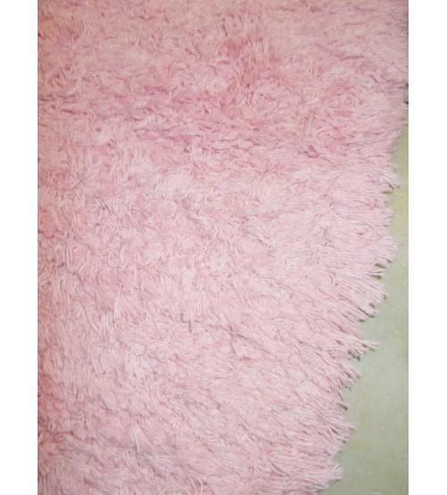 Bolyhos rongyszőnyeg rózsaszín 70 x 100 cm