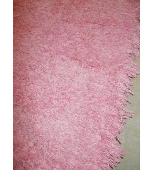Bolyhos rongyszőnyeg rózsaszín 70 x 200 cm