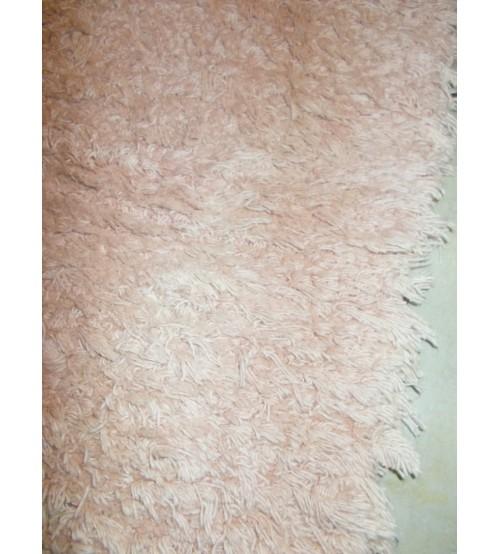Bolyhos rongyszőnyeg barna 70 x 100 cm