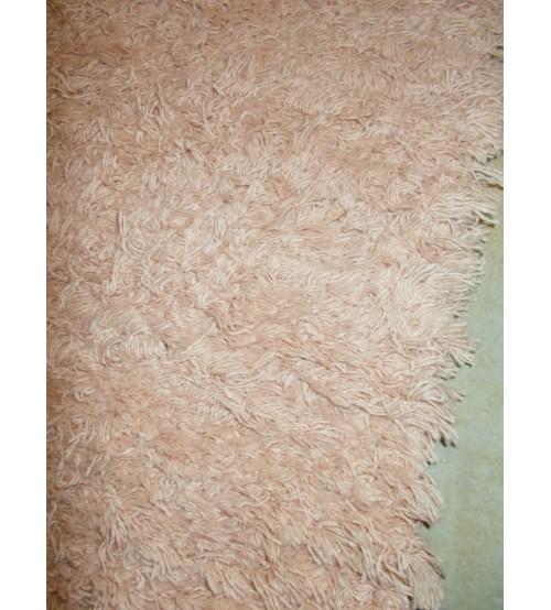 Bolyhos rongyszőnyeg barna 70 x 150 cm