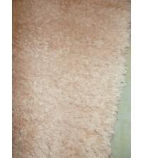 Bolyhos rongyszőnyeg barna 70 x 200 cm