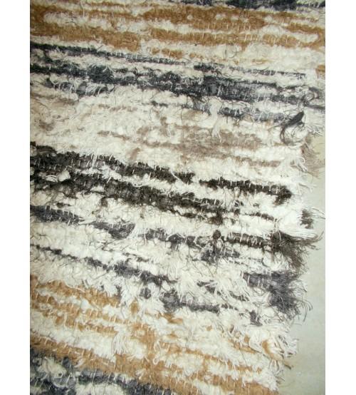 Bolyhos rongyszőnyeg barna, nyers, szürke 65 x 160 cm