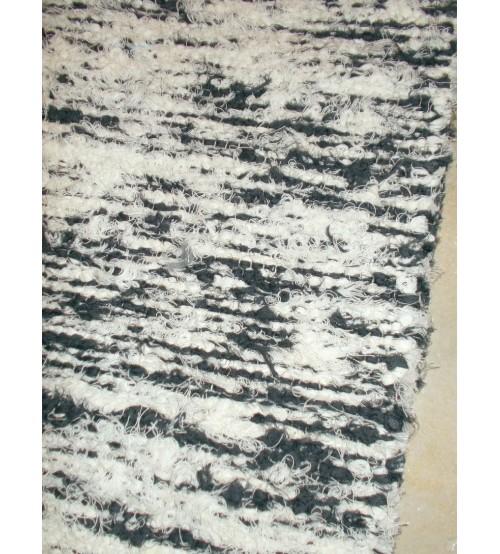 Bolyhos rongyszőnyeg szürke, nyers 70 x 100 cm