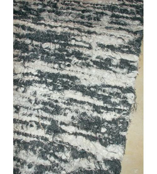 Bolyhos rongyszőnyeg szürke 70 x 100 cm
