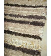 Bolyhos rongyszőnyeg barna 75 x 100 cm