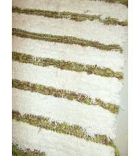 Bolyhos rongyszőnyeg nyers, zöld, bordó 75 x 150 cm