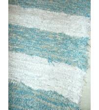 Bolyhos rongyszőnyeg kék, szürke 75 x 200 cm