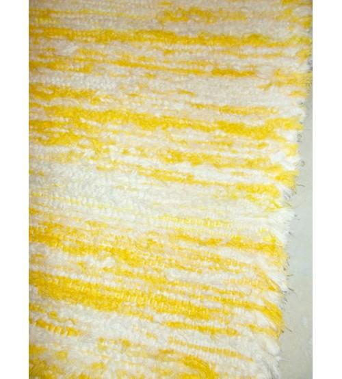 Bolyhos rongyszőnyeg sárga, nyers 80 x 120 cm