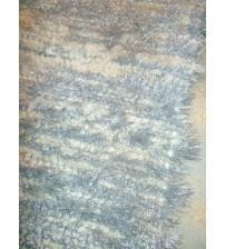 Bolyhos rongyszőnyeg szürke, nyers 65 x 60 cm