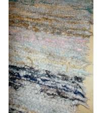 Bolyhos rongyszőnyeg színes 65 x 120 cm