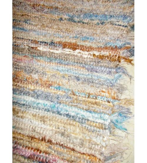 Bolyhos rongyszőnyeg színes 70 x 105 cm