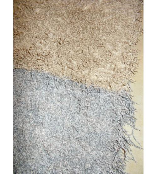 Bolyhos rongyszőnyeg szürke, barna 65 x 105 cm
