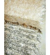 Bolyhos rongyszőnyeg barna, nyers 65 x 100 cm