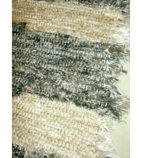 Bolyhos rongyszőnyeg szürke, barna 70 x 130 cm