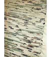 Bolyhos rongyszőnyeg zöld, barna 60 x 130 cm