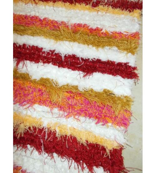 Bolyhos rongyszőnyeg színes 50 x 100 cm