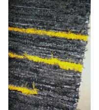 Bolyhos rongyszőnyeg fekete, sárga 75 x 100 cm