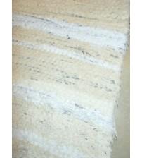 Bolyhos rongyszőnyeg nyers, fehér 80 x 150 cm