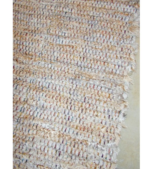 Bolyhos rongyszőnyeg barna, szürke 75 x 150 cm