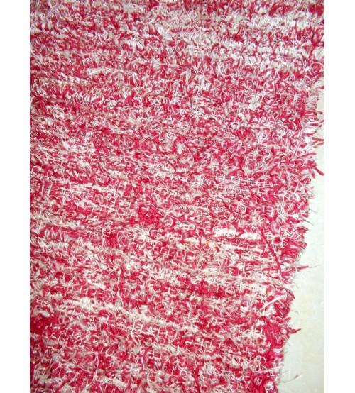 Bolyhos rongyszőnyeg bordó, szürke 75 x 200 cm