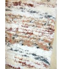 Bolyhos rongyszőnyeg barna, fehér, nyers 70 x 100 cm