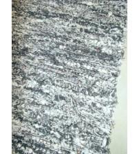 Bolyhos rongyszőnyeg szürke, nyers 75 x 150 cm