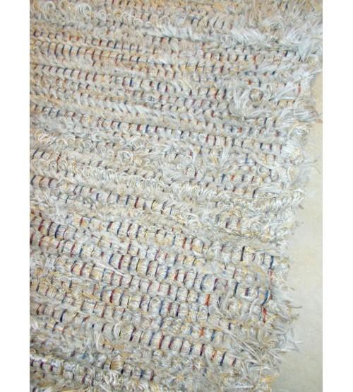 Bolyhos rongyszőnyeg szürke, barna 75 x 200 cm