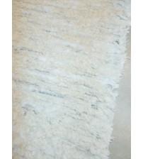 Bolyhos rongyszőnyeg nyers, szürke, fehér 70 x 150 cm