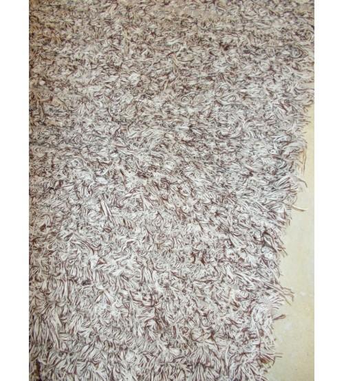 Bolyhos rongyszőnyeg barna, nyers 50 x 100 cm