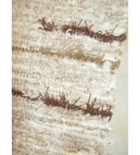 Bolyhos rongyszőnyeg barna, nyers 75 x 100 cm
