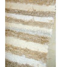Bolyhos rongyszőnyeg barna, nyers, fehér, szürke 75 x 150 cm