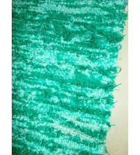 Bolyhos rongyszőnyeg zöld 75 x 100 cm