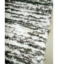 Bolyhos rongyszőnyeg barna, fehér 75 x 110 cm