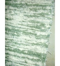 Bolyhos rongyszőnyeg zöld, nyers 75 x 100 cm